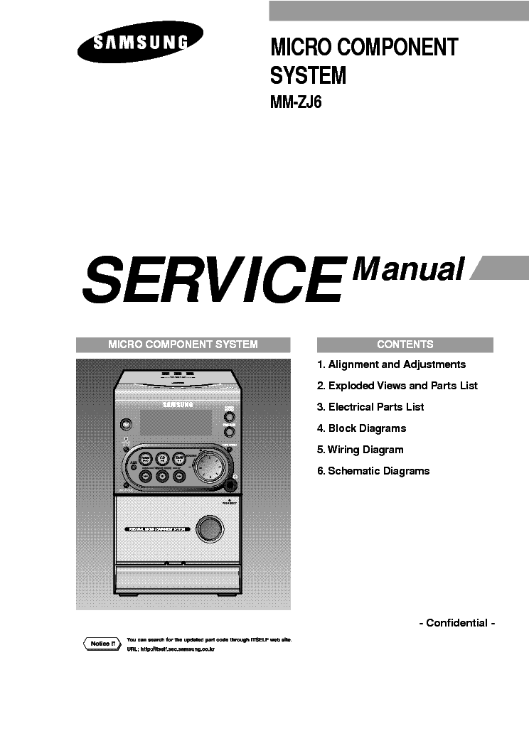 SAMSUNG MM-ZJ6 service manual