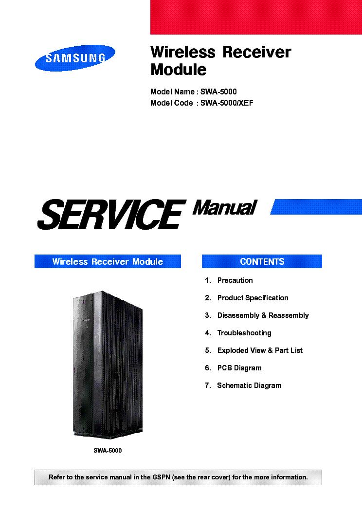Samsung Swa 5000 Xef Sm Service Manual Free Download