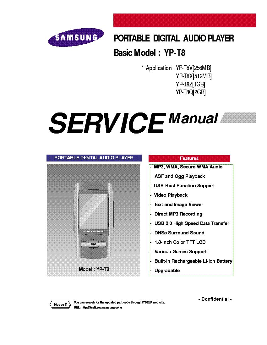 Service Manual Samsung tv yp u5