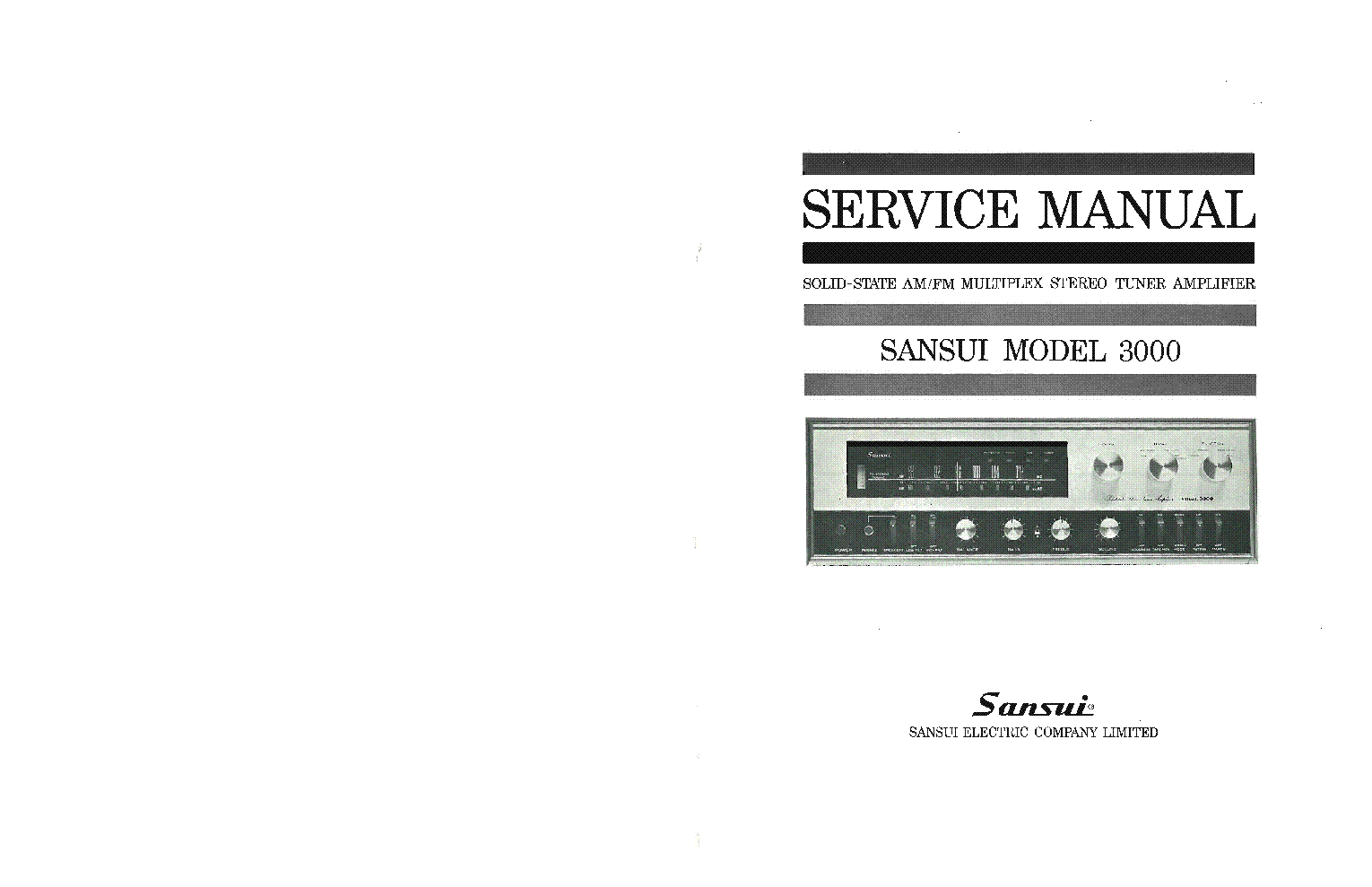 Sansui au g90x service Manual on