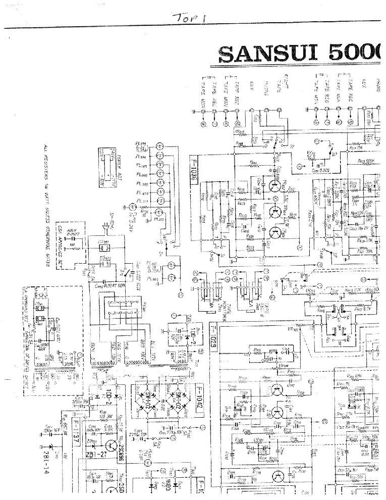 sansui 5000a sch service manual download  schematics  eeprom  repair info for electronics experts