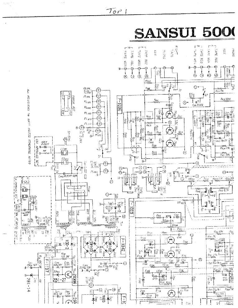 Sansui 5000a Sch Service Manual Download  Schematics