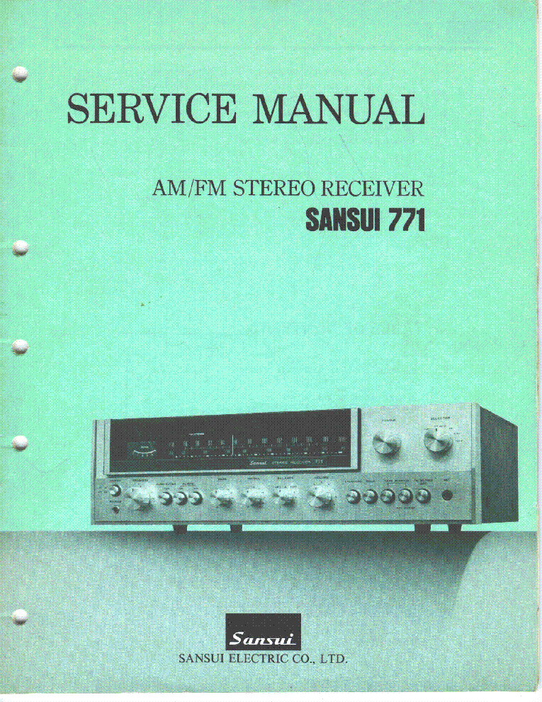 sansui 771 am fm stereo receiver service manual download schematics rh elektrotanya com