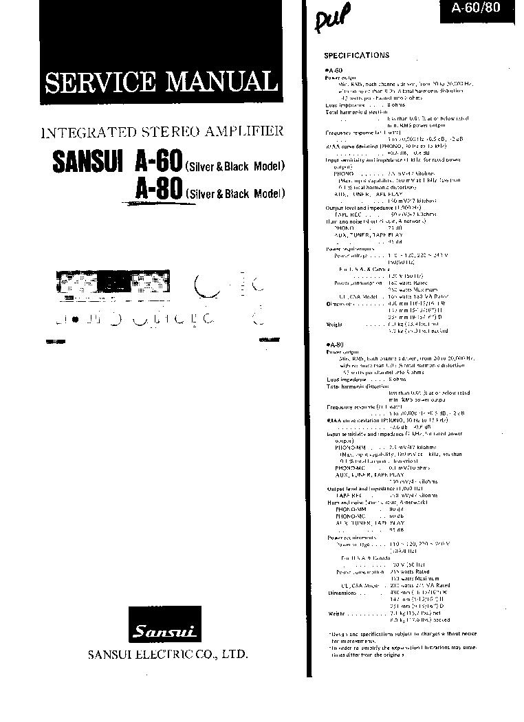 akai ax 80 service manual