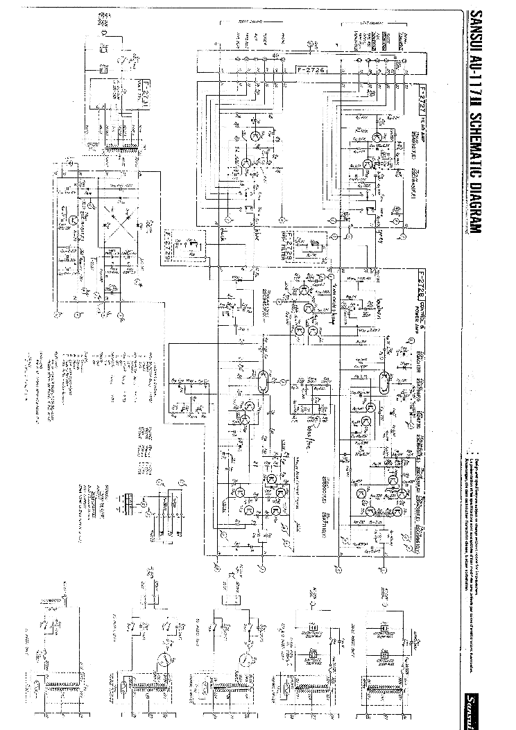 Sansui au 7700 service manual on
