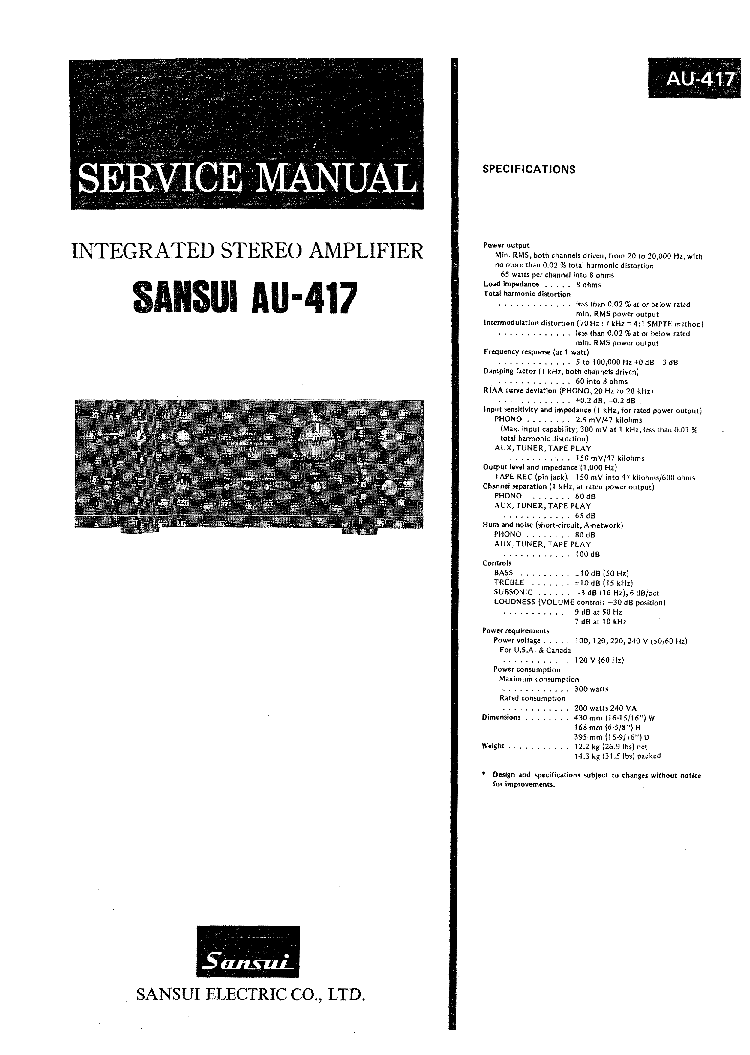 ... Array - sansui au 417 sm service manual download schematics eeprom  repair rh elektrotanya com