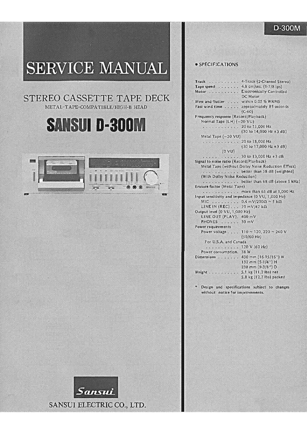 sansui d 300m service manual download schematics eeprom repair rh  elektrotanya com sansui d-