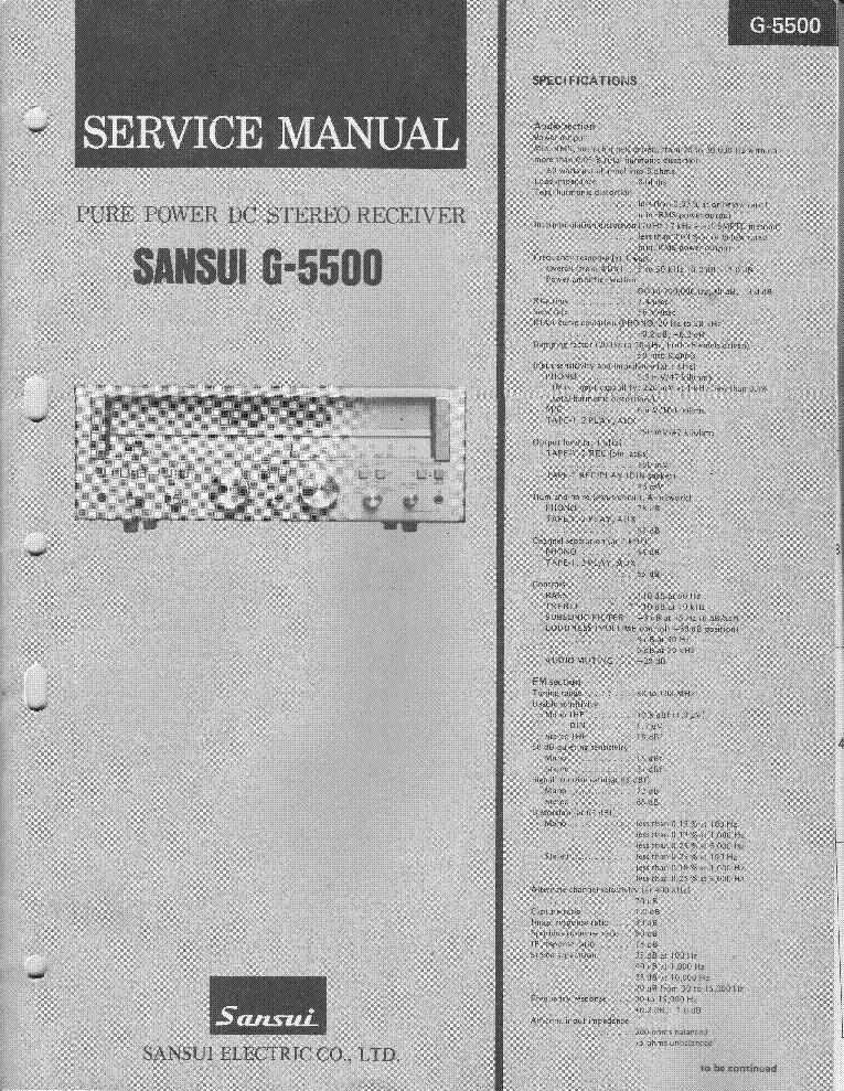 Sansui G 5700 Manual