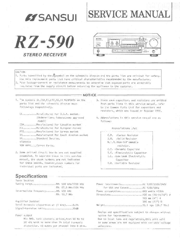 SANSUI SD-5050 SCH Service Manual download, schematics, eeprom