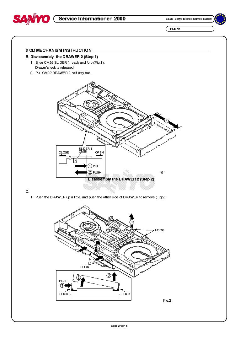 Sanyo 3cd Changer Mechanism Service Manual Download  Schematics  Eeprom  Repair Info For