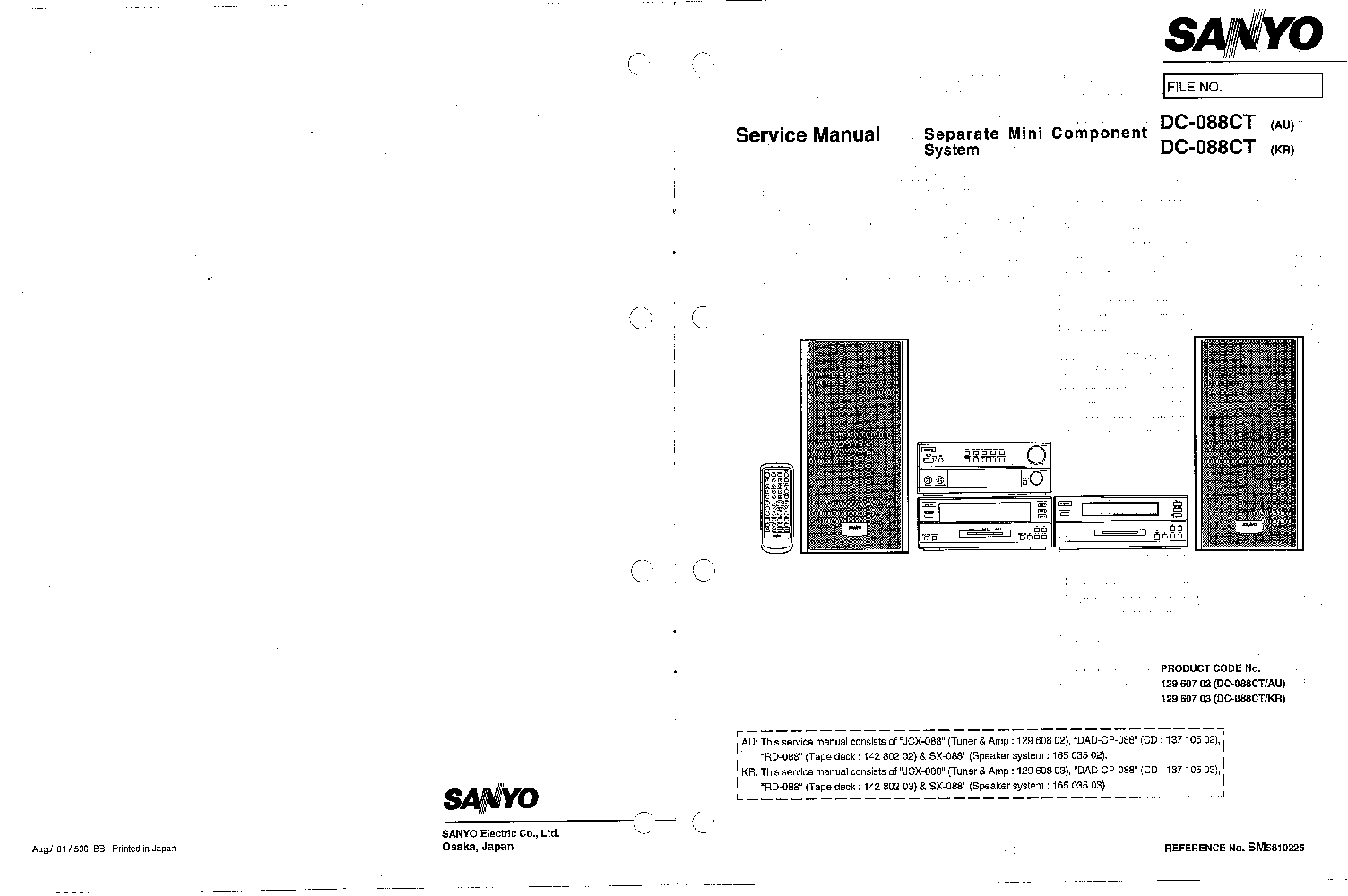 sanyo dc 088ct sm service manual download schematics eeprom rh elektrotanya com