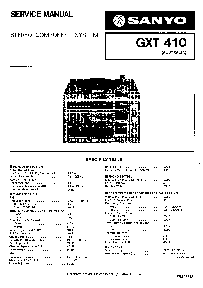 Sanyo Plus P55 Service Manual Free Download  Schematics