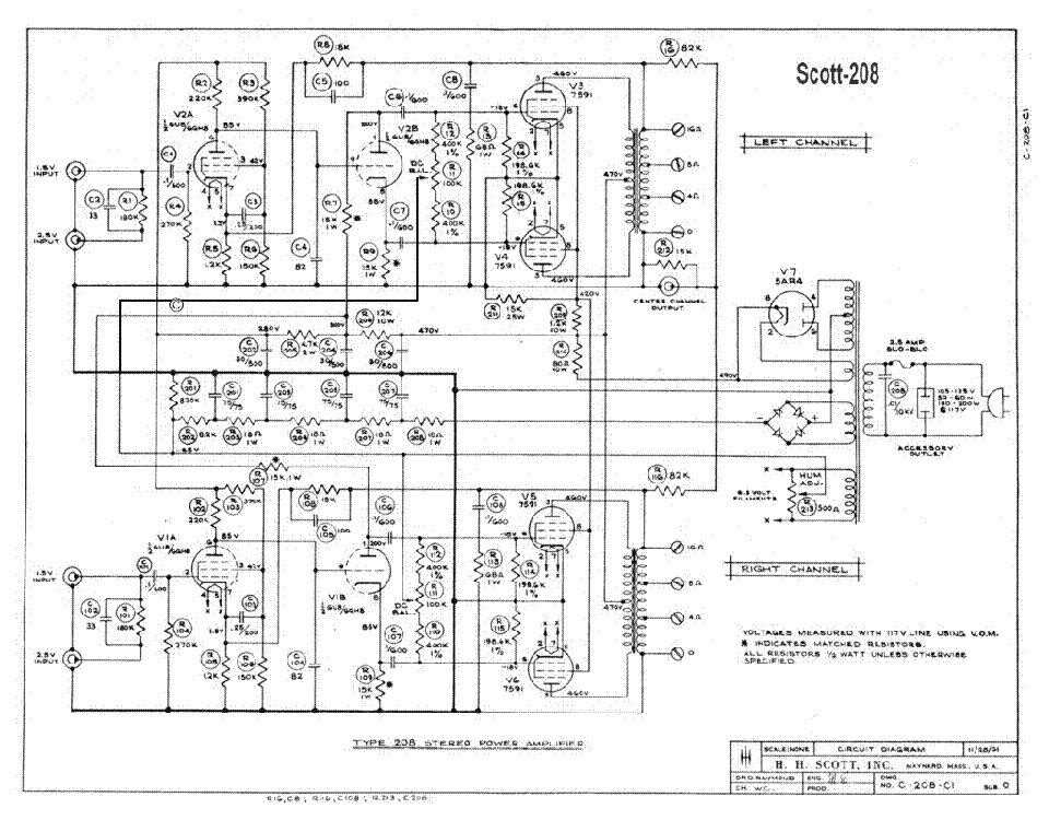 scott 208 sch service manual download  schematics  eeprom  repair info for electronics experts