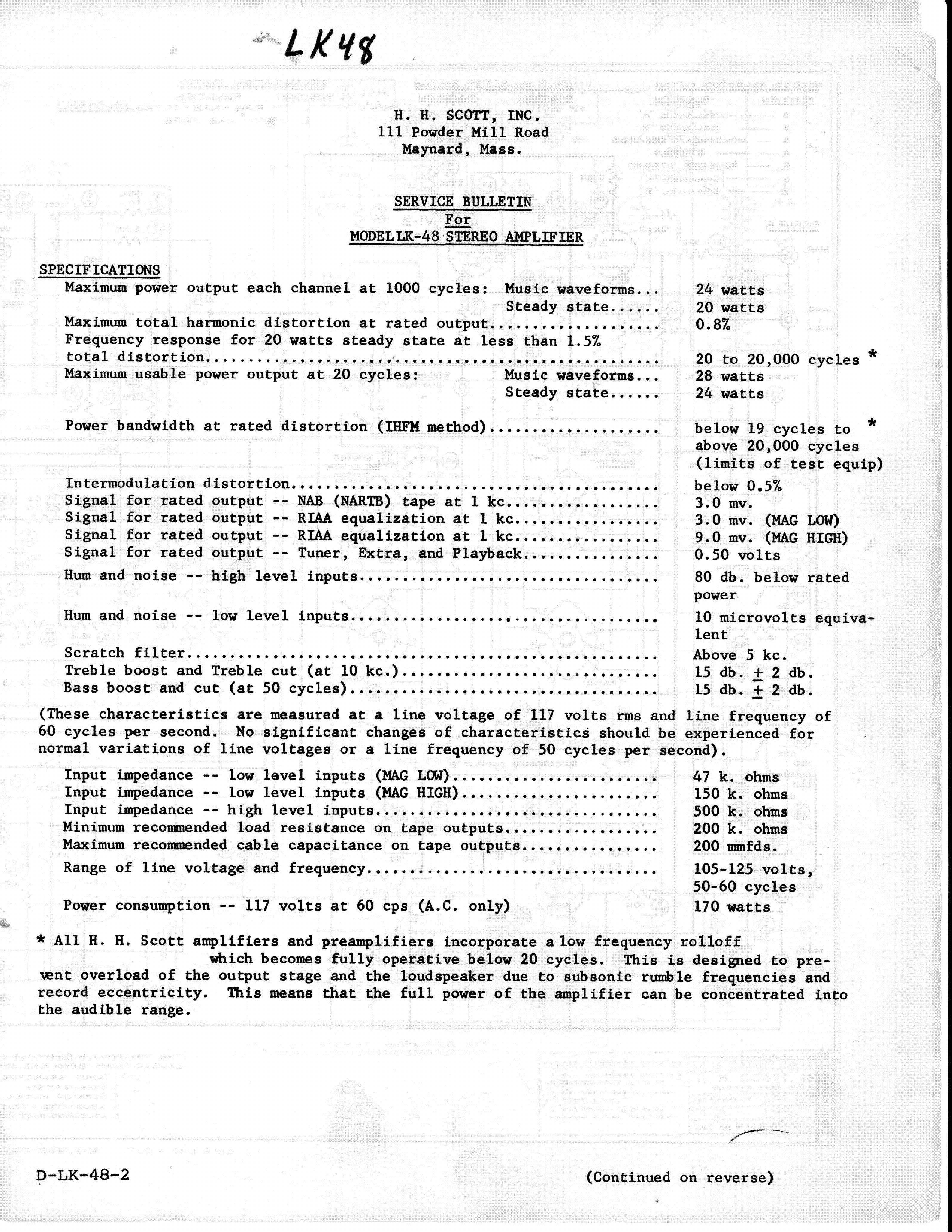 Scott Lk48 Sch Service Manual Download  Schematics  Eeprom