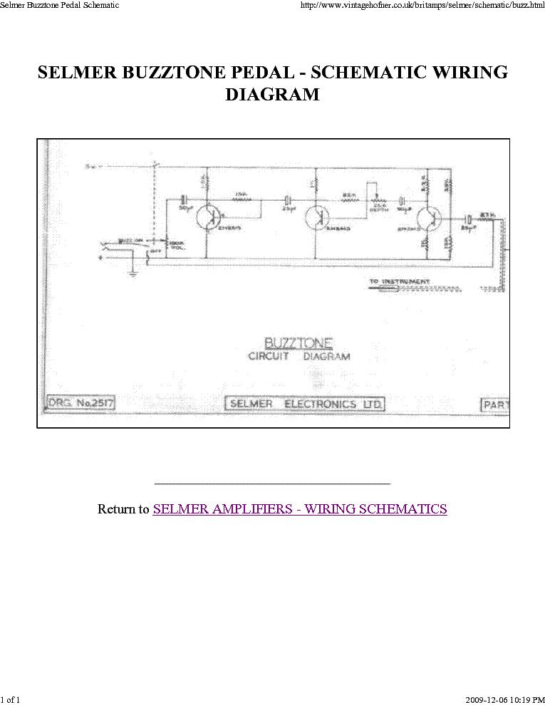 selmer buzztone pedal sch service manual download schematics rh elektrotanya com  wiring diagram for indicator buzzer