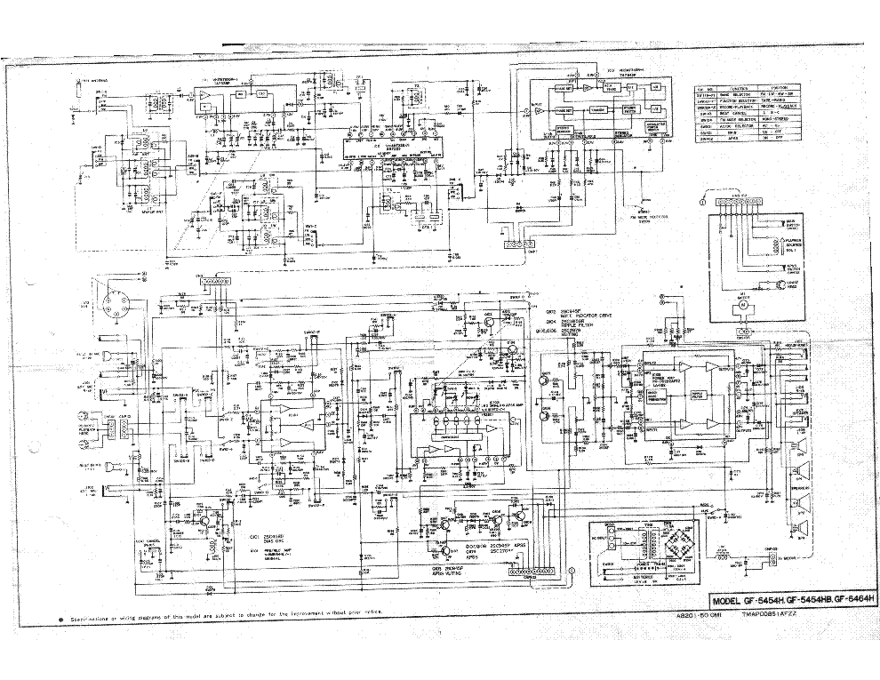 Sharp Optonica Sa 5151 Sm Service Manual Download Schematics