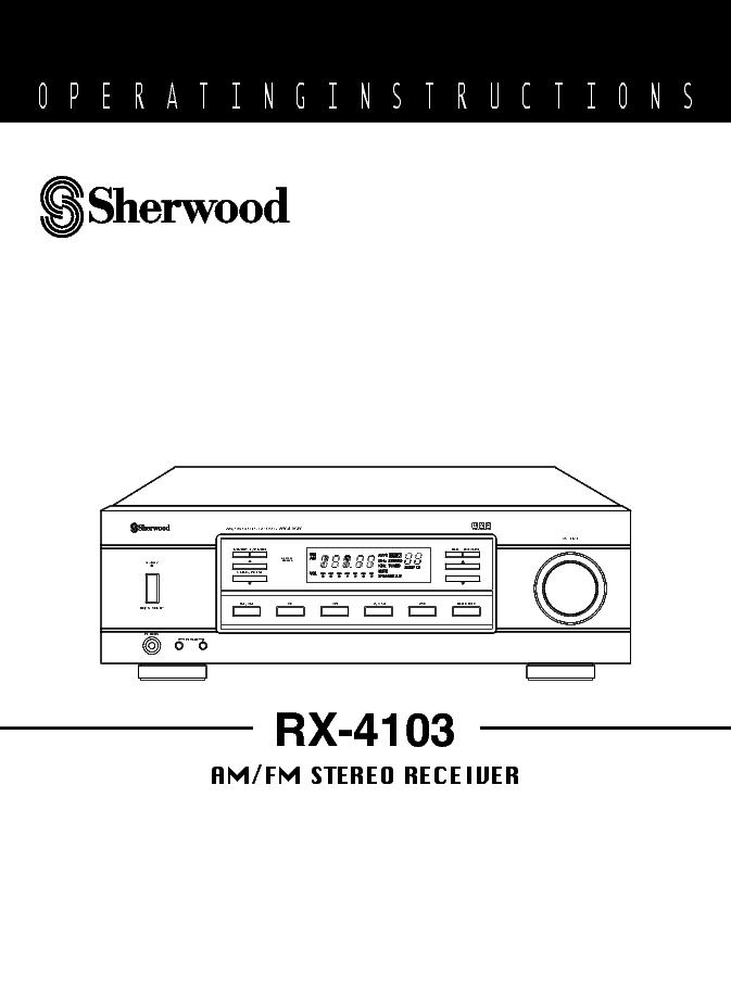 sherwood rx-4109 repair manual