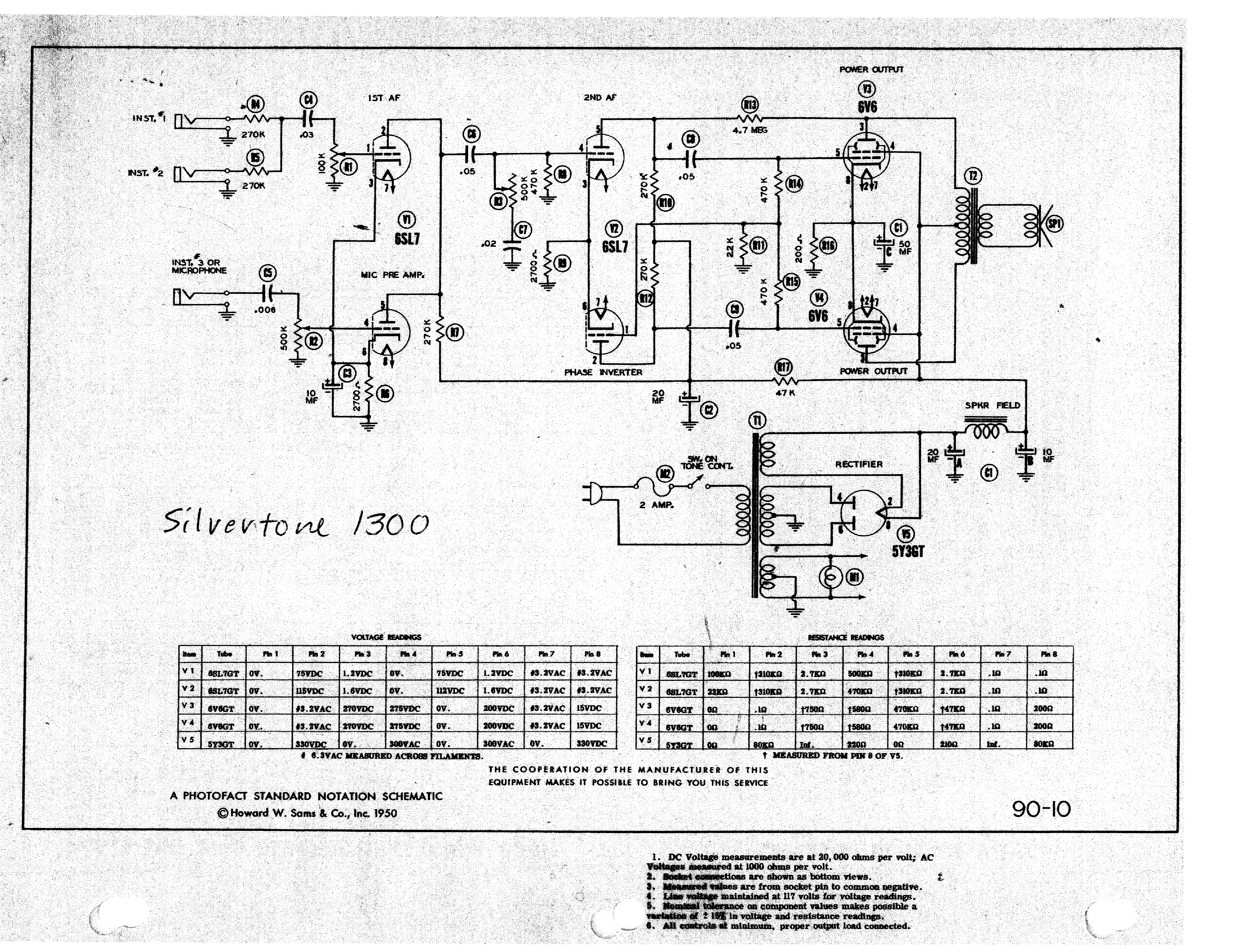 silvertone 1300 sch service manual download  schematics  eeprom  repair info for electronics experts