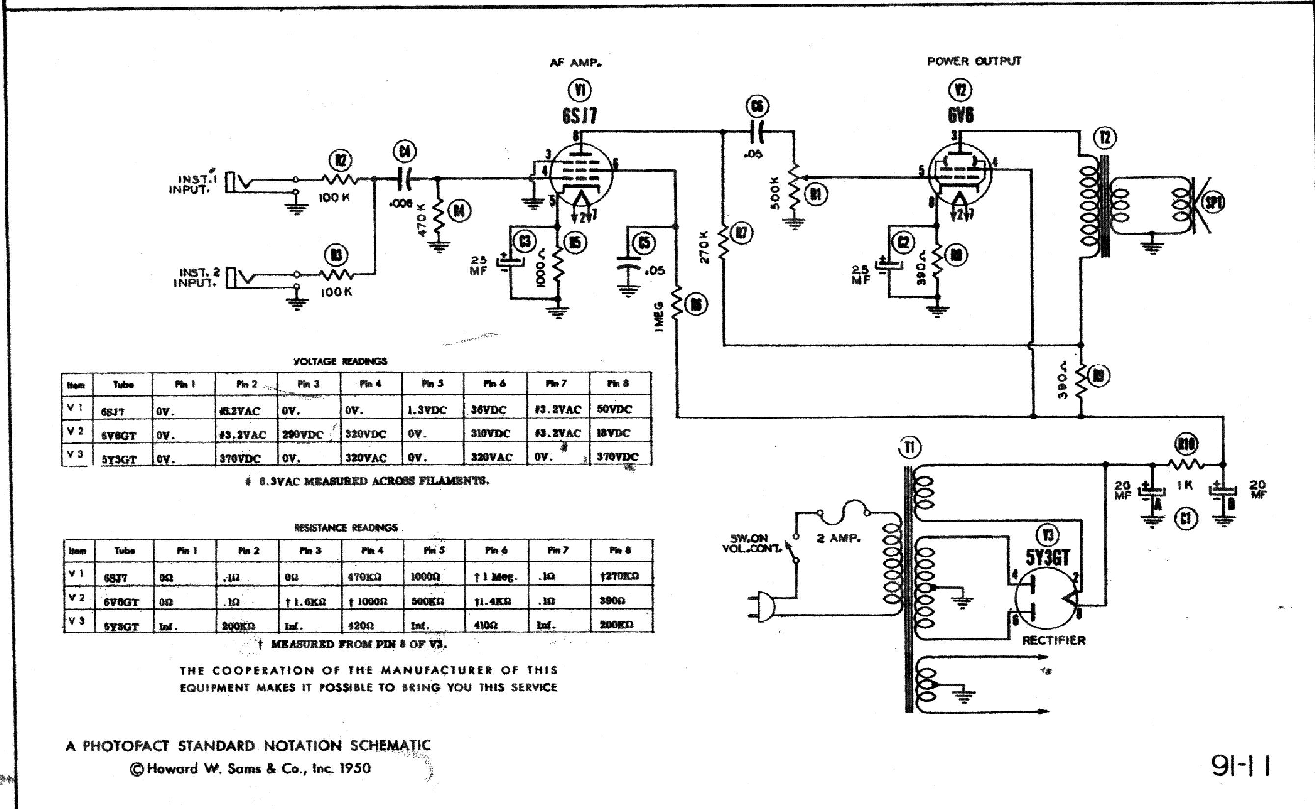 SILVERTONE 1301 SCH service manual (1st page)