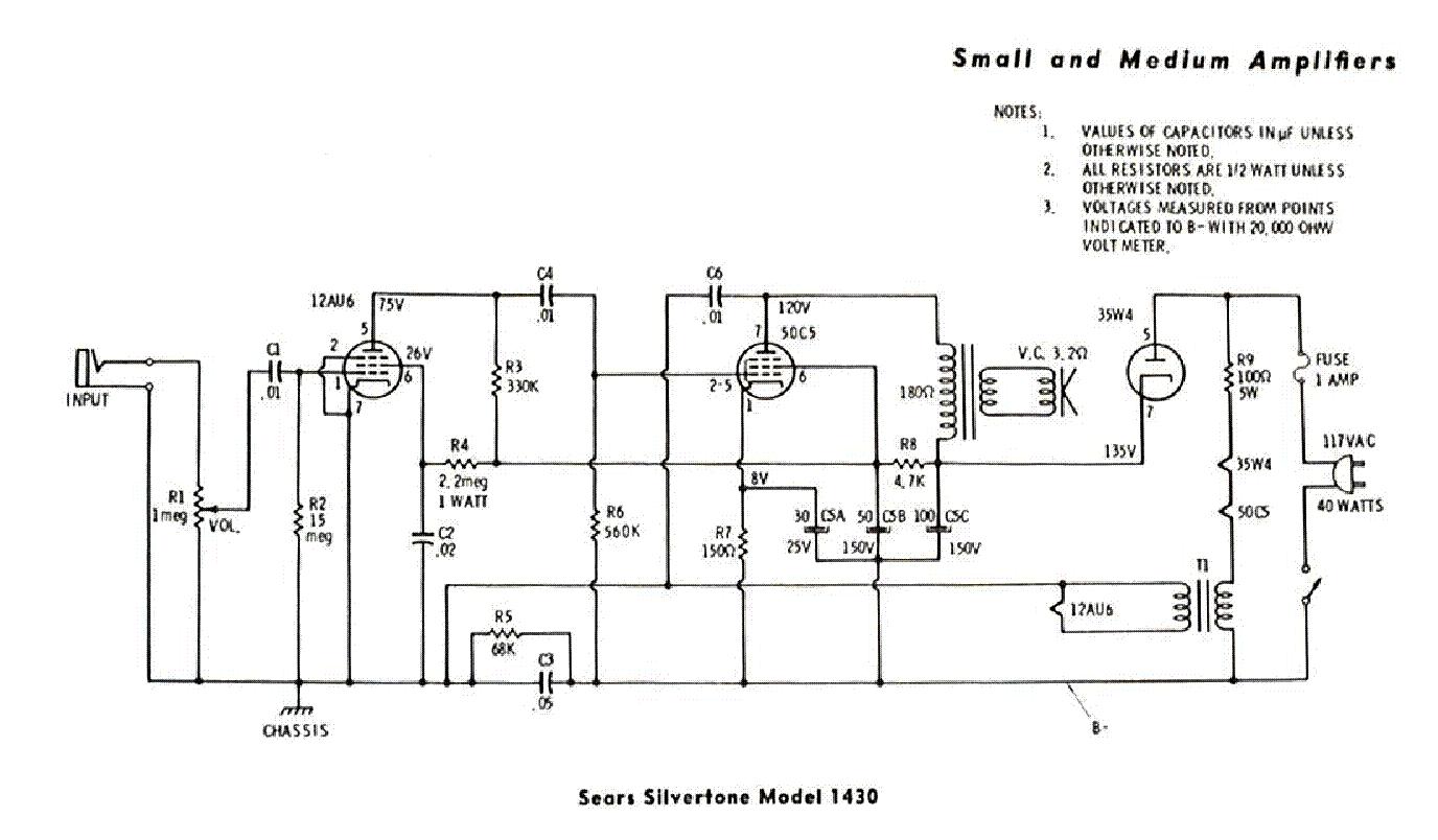 Silvertone 1482 Service Manual Download  Schematics