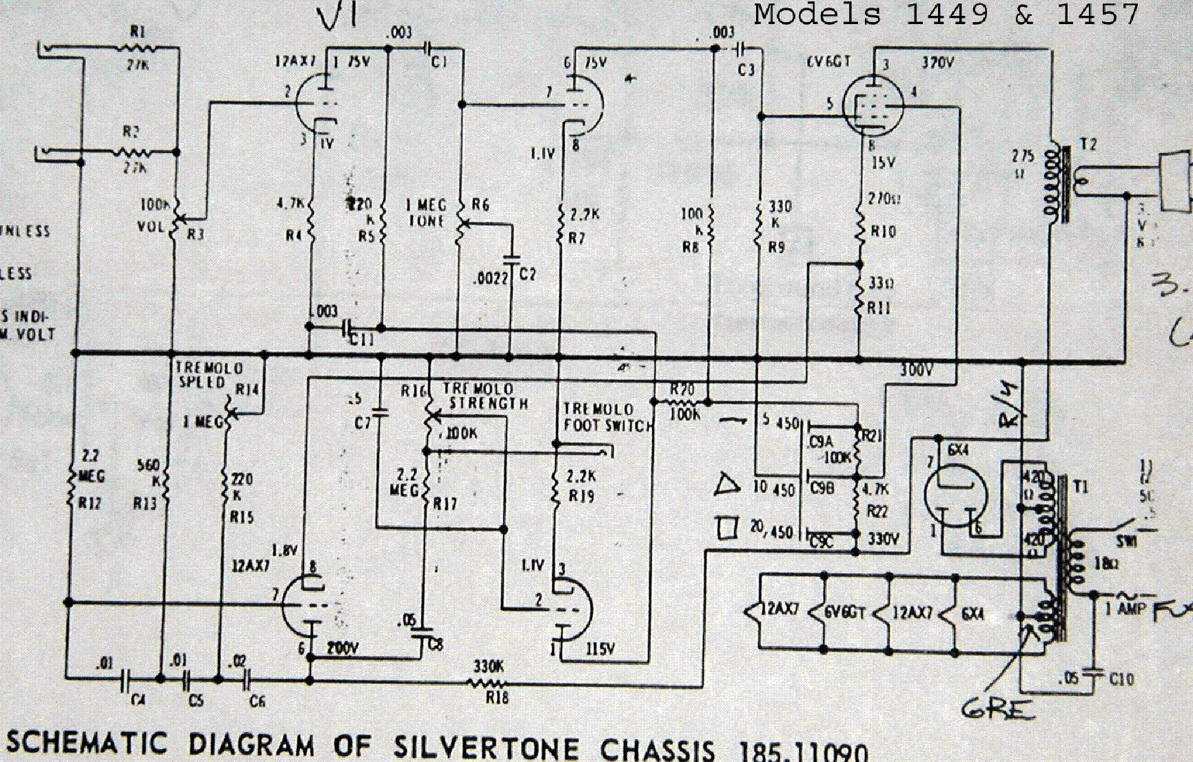 silvertone 1471 sch service manual schematics silvertone 1449 1457 sch