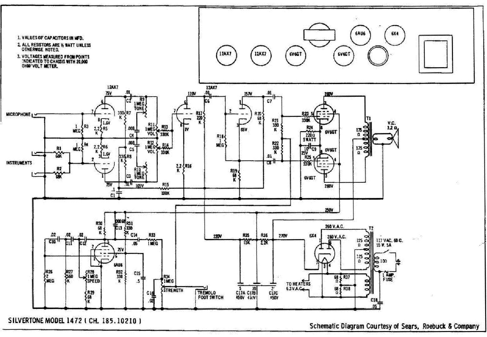 SILVERTONE 1472 service manual (1st page)