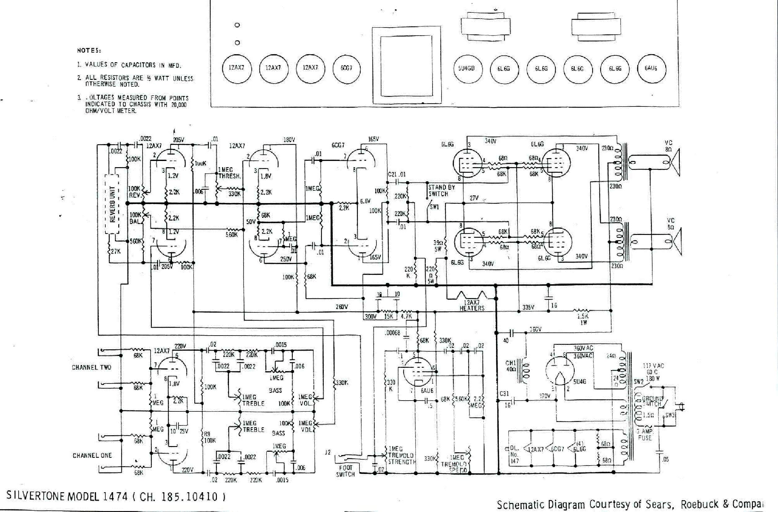silvertone 1474 service manual schematics eeprom silvertone 1474 service manual 1st page