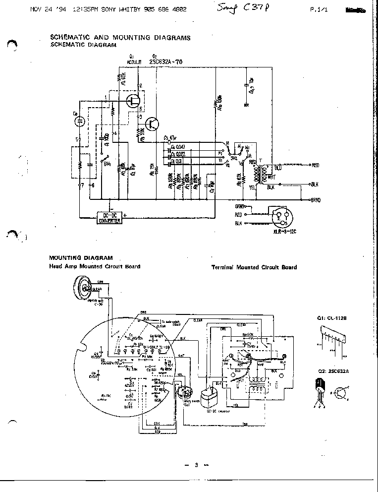 Sony Schematic Diagram