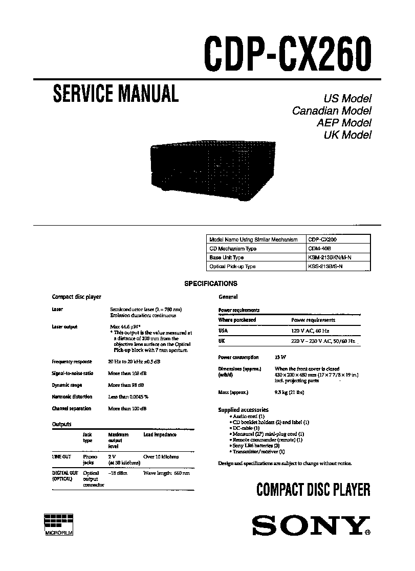 Sony Cx260 Manual Oliver 1850 Wiring Diagram Free Download Schematic Array Cdp Service Schematics Eeprom Repair Rh Elektrotanya Com