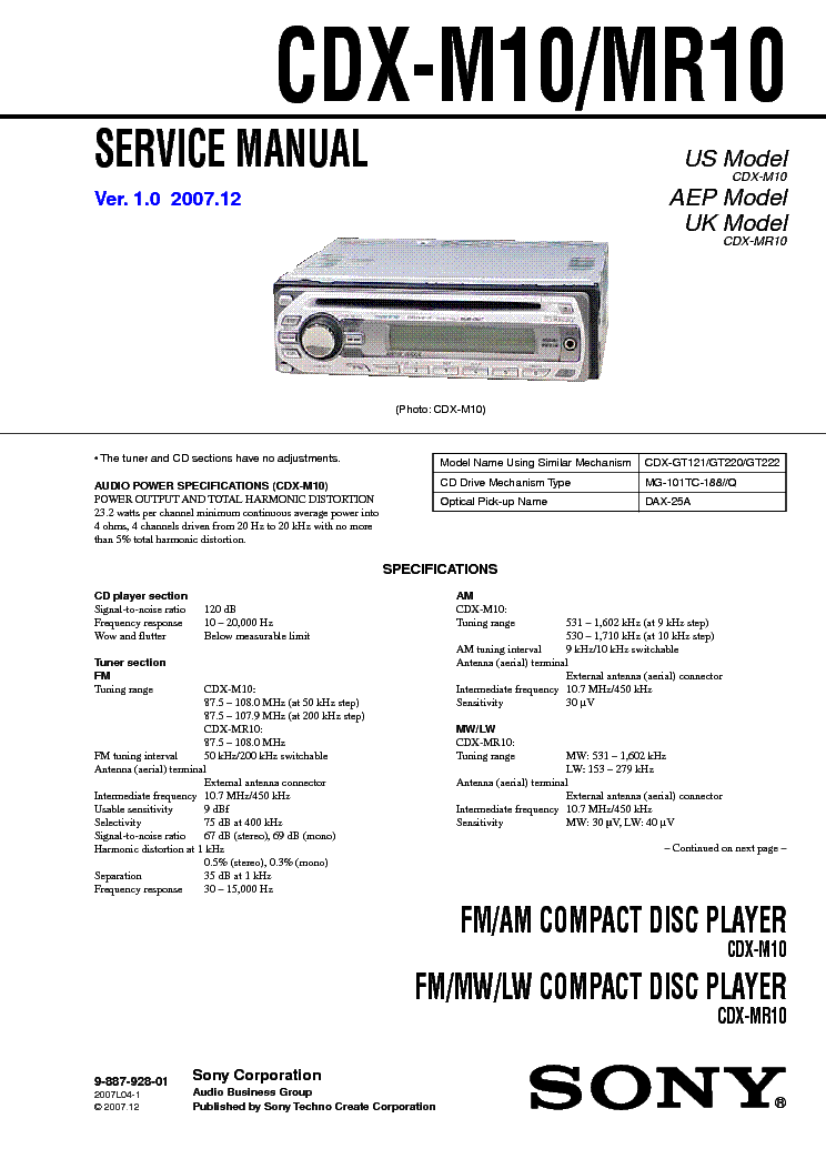 20 Awesome Sony Cdx Gt565up Wiring Diagram
