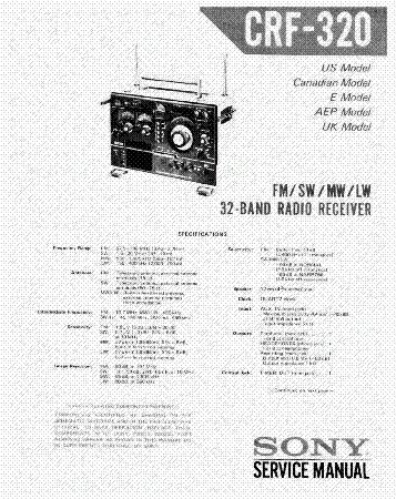 sony crf 320 sm service manual download schematics eeprom repair rh elektrotanya com Sony Shortwave Radio Collection sony crf 320 user manual