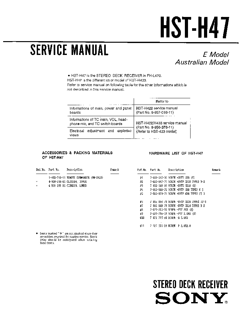 SONY SS-RG66 RG66A Service Manual download, schematics