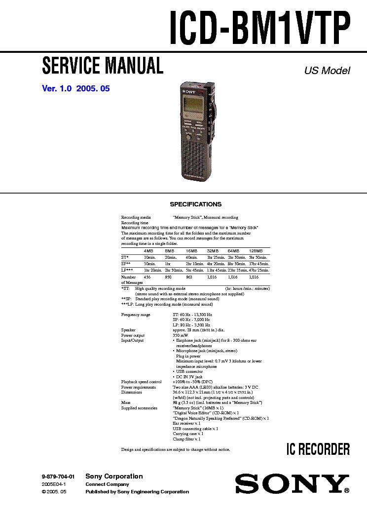 Sony icd-bp100