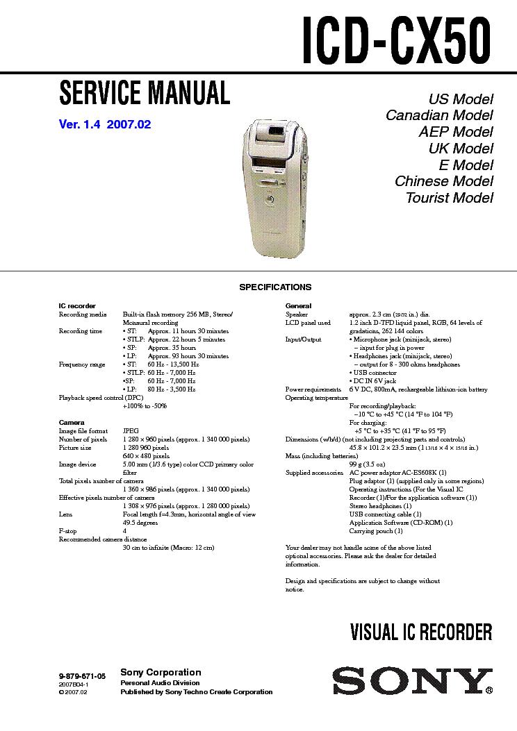 sony icd cx50 service manual download schematics eeprom repair rh elektrotanya com cx500c service manual Case CX50