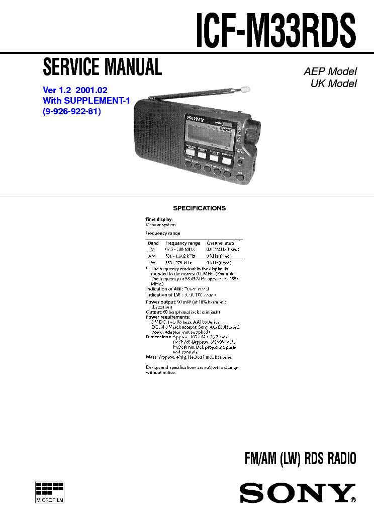 sony icf 2002 manual pdf
