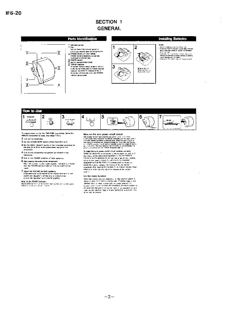 SONY IFS-20 service manual (2nd page)