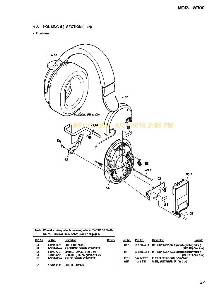 b8b87e108 SONY MDR-HW700 VER.1.1 EXPLO Service Manual download, schematics ...