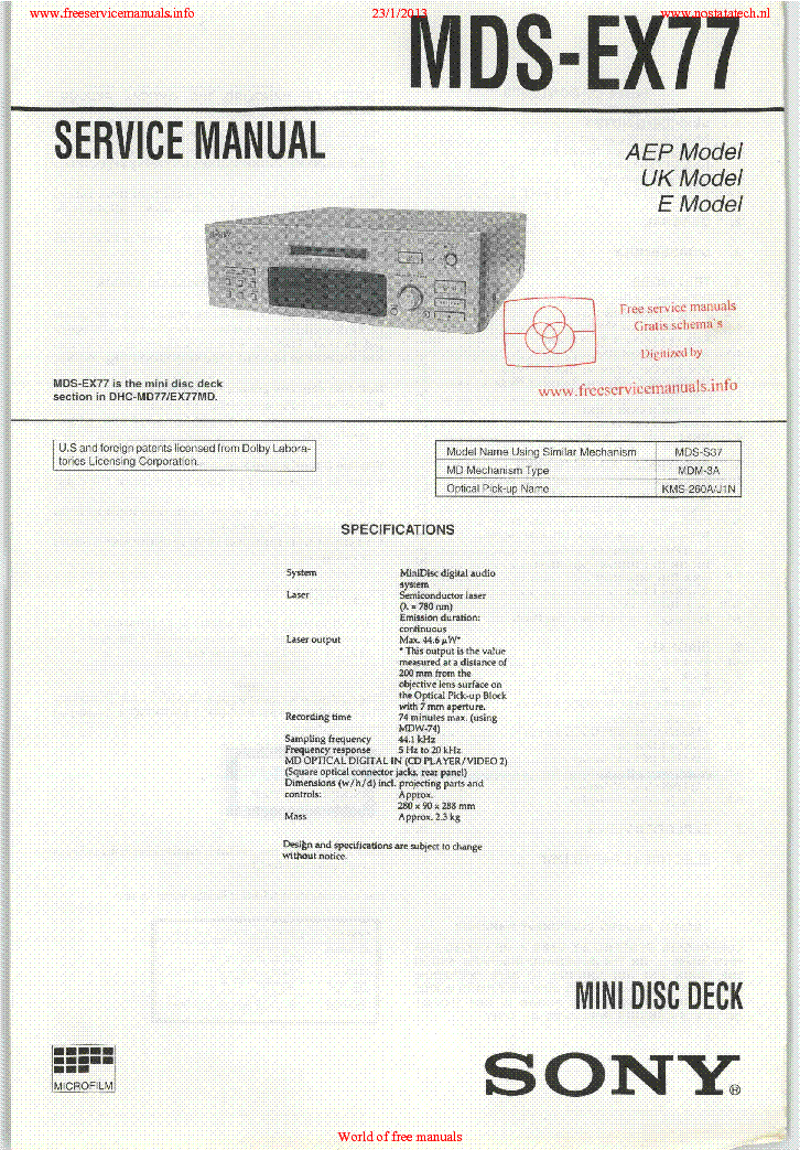sony str d1015 service manual
