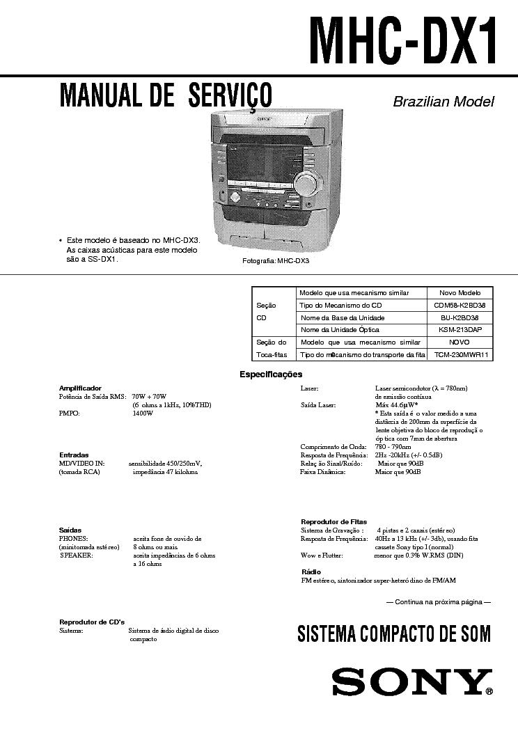 sony mhc w55 pdf