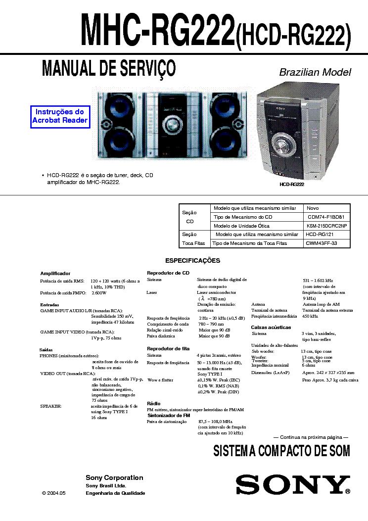 SONY HCD-GPX5G GPX7G GPX8G VER 1 3 Service Manual download
