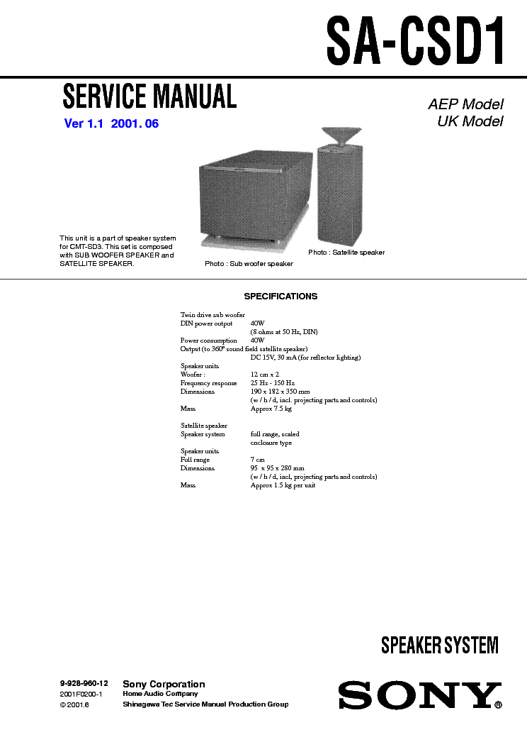 Sony Kp-57hw40 Service Manual Free Download