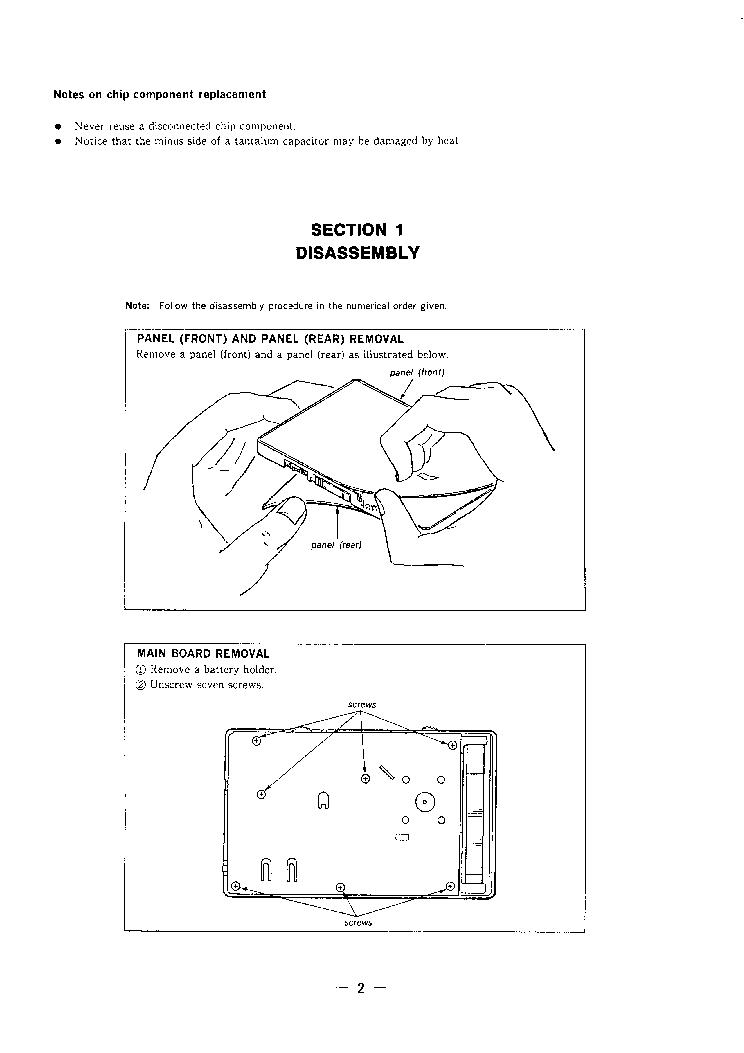 Icf-sw77 Service Manual Pdf