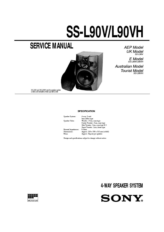 sony ss l90v l90vh service manual download schematics eeprom