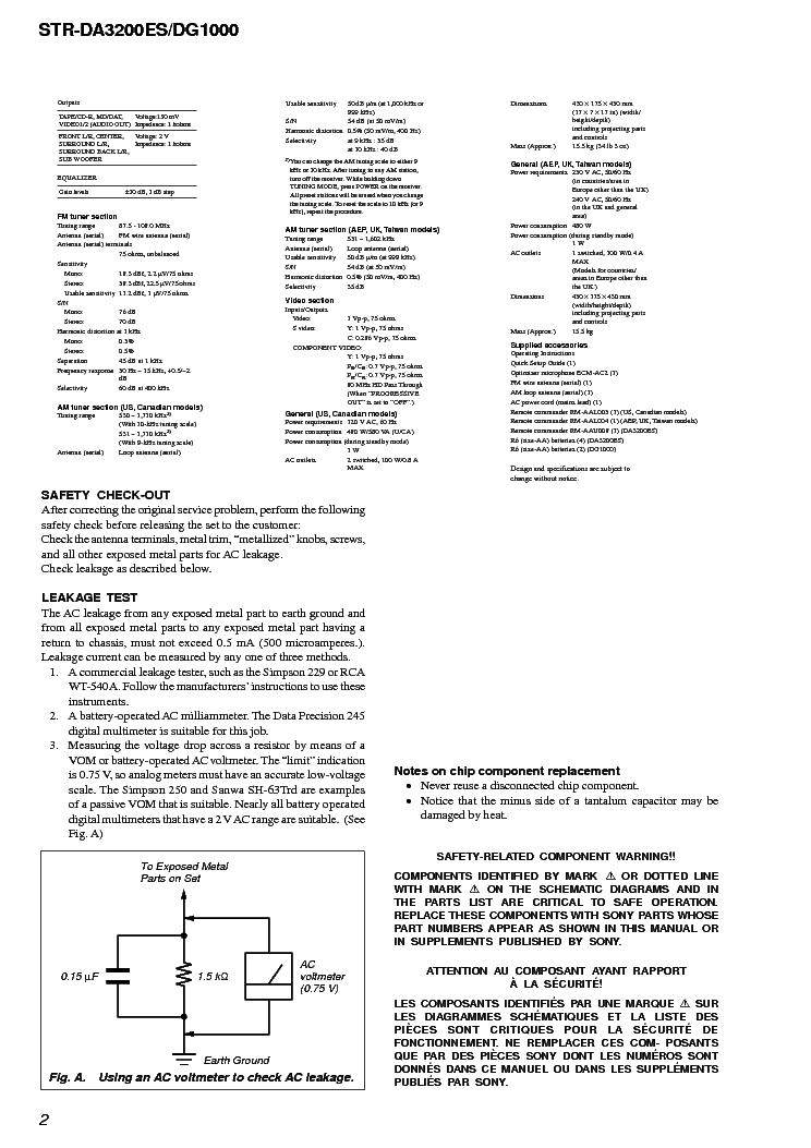 Sony Str Da3200es Dg1000 Ver1 0 Service Manual Download Schematics Eeprom Repair Info For Electronics Experts