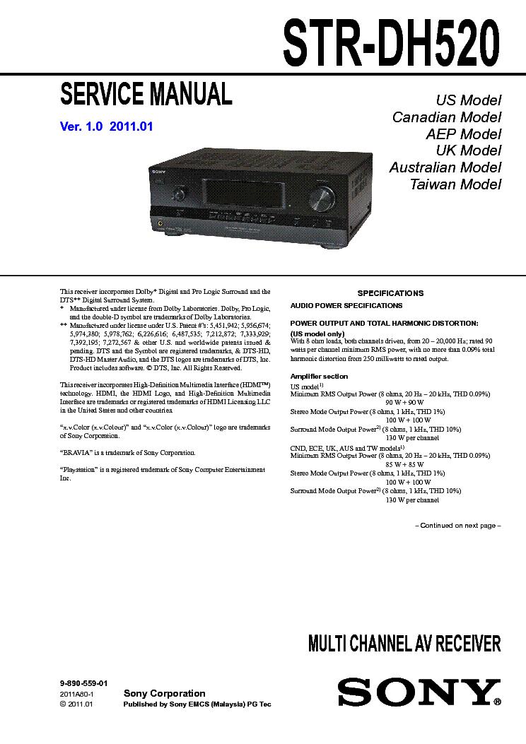 sony str dh520 service manual download schematics eeprom repair rh elektrotanya com