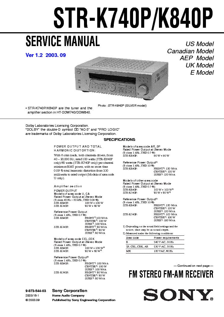 sony wm ex606 service manual download schematics eeprom repair rh elektrotanya com sony str k750p manual sony str-k850p review