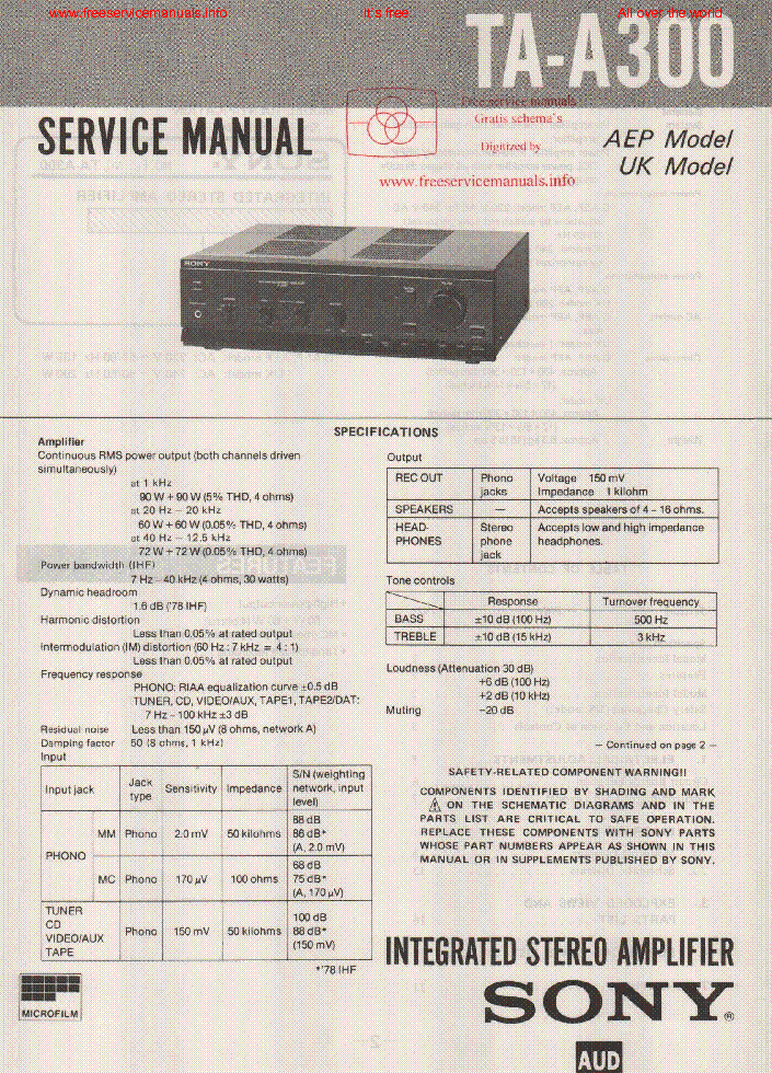 sony ta a300 service manual download schematics eeprom repair rh elektrotanya com sony a300 camera manual sony ta-a300 manual
