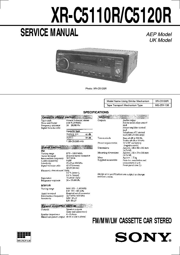 SONY XR-C5110R 5120R