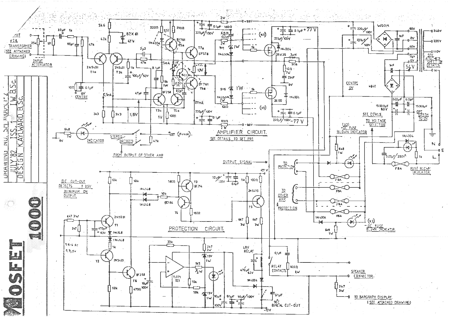 Studio Master Amplifier Circuit Diagram - Studiomaster 500 1000 Amplifier  Sch Service Manual - Studio Master