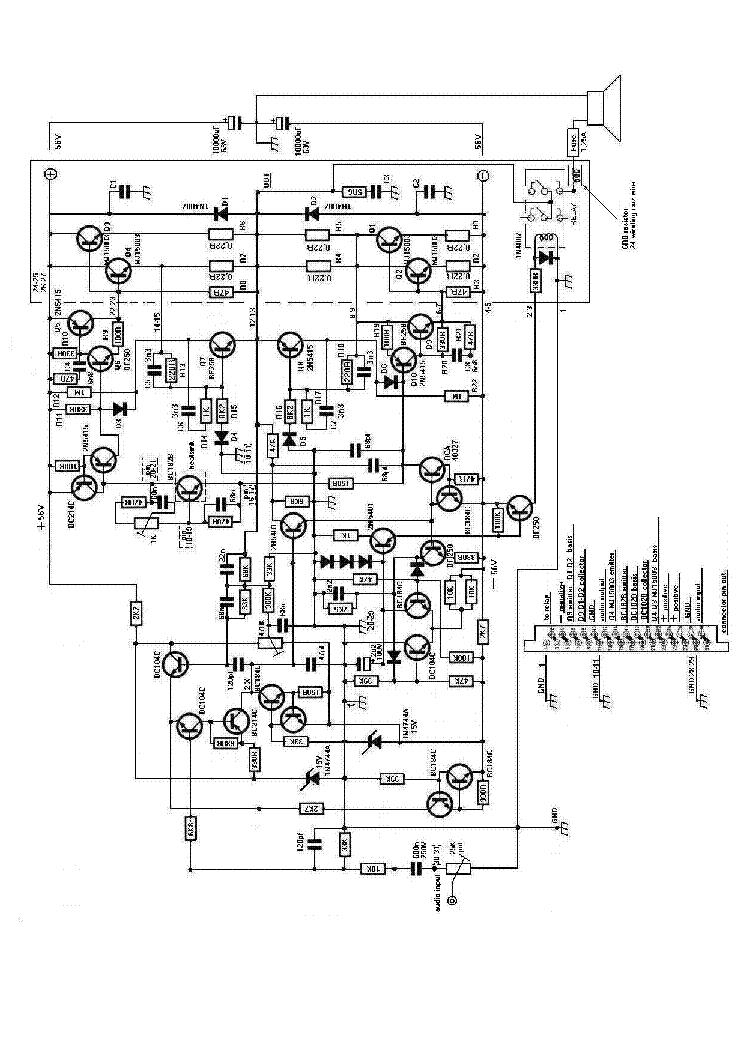 studiomaster amplifier 2n5415 rca40327 mj15003 bf258 bc184